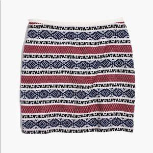 Madewell Jacquard Gamine Mini Skirt